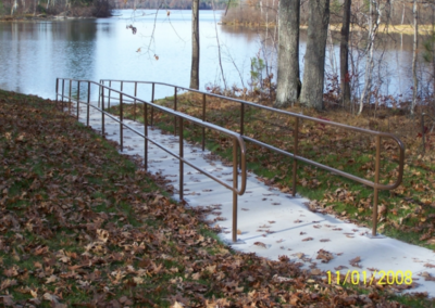 Custom Fabricated Walk-Way Hand Railings, Gov Thompson State Park, Richlen Enterprises, CNC Mill, stainless steel fabricationCustom machine metal fabrication shop, metal work, manufacturing Pound Wisconsin, cnc machine metal, stainless steel fabrication, metal fabrication companies, sheet metal, fabricated steel stairways, CNC Mill,crivitz wi, Steel Fabricating, at home fire pit, turning centers, Pound Wisconsin, precision metal fabrication,