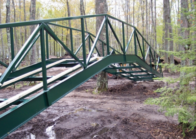 Steel Fabricated Walking Bridge, machine shop crivitz wisconsin,precision metal fabrication, cnc company, custom machining, aluminum welding shops near me,Richlen Enterprises, Steel Metal fabrication near me,metal fabrication companies, sheet metal, fabricated steel stairways, CNC Mill,